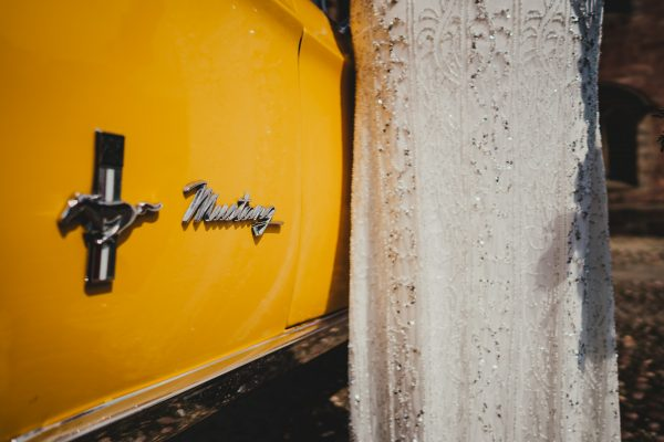 yellow mustang and wedding dress, chetham's library wedding photographer, chetham's library wedding photography, lock 91 wedding photographer, lock 91 wedding photography, manchester wedding photographer, manchester wedding photography, cool manchester wedding, creative manchester wedding photographer