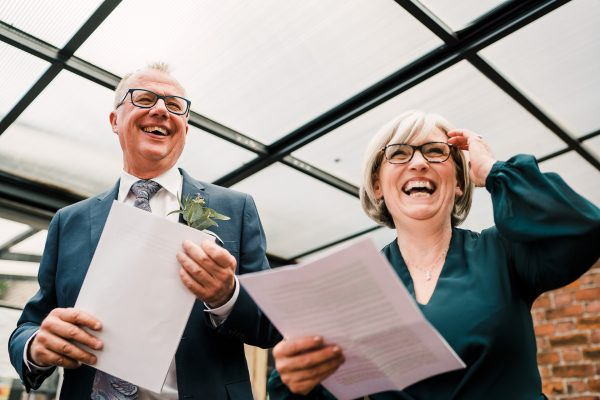 parents of the bride give a speech