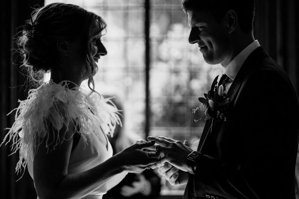 wedding rings exchanged during a wedding ceremony